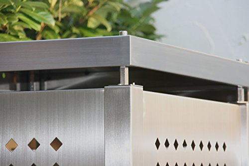 Mülltonnenbox für vier Mülltonnen 240 l - 5