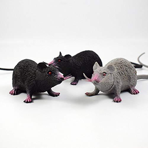ENticerowts Juguete de Halloween de 22 cm de PVC, modelo de ratones de simulacin de juguete para nios, regalo de Halloween, juguete complicado, fiesta, broma, realista, color blanco