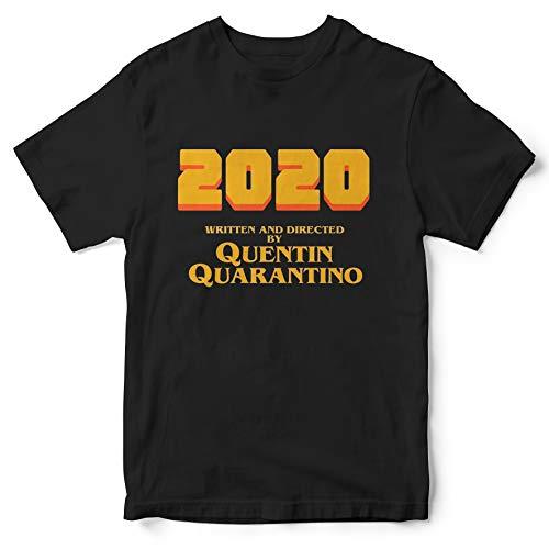 2020 Written And Directed by Quentin Quarantino T- Shirt 1N Idea Regalo Maglia Maglietta Collezione Personaggi Regista Film Movie Quentin Tarantino Funny t Shirts covid 19 Pandemia Virus (XXL)