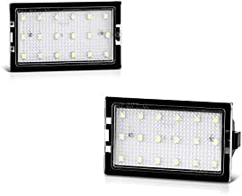 VIPMOTOZ Full LED License Plate Light Housing Lamp Assembly Replacement Pair For Land Rover L319 L359 LR2 LR3 LR4 Range Rover Sport L320, 6000K Diamond White, 2-Pieces Set
