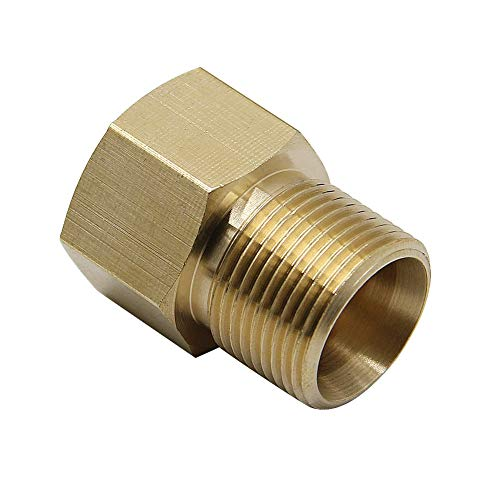 Twinkle Star Pressure Washer Coupler, M22 15mm Male to M22 14mm Female Fitting, 4500 PSI
