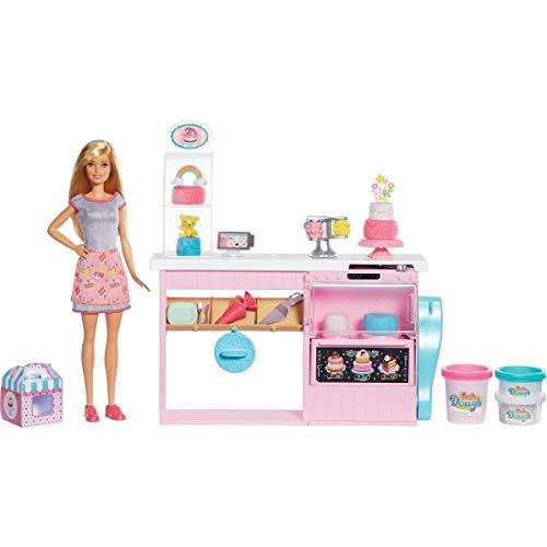 Barbie y su pastelería, muñeca con cocina y accesorios, regalo para niñas...