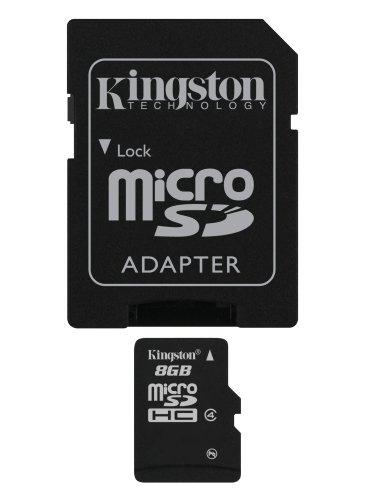 Kingston 8 GB microSDHC Class 4 Flash Memory Card SDC4/8GB,Black