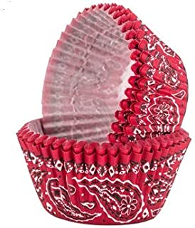 Red Bandana Western Theme Baking Cups For Parties Picnics Party Supplies 50 Ct