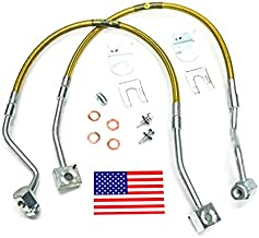 Superlift Suspension | 91240 | Bullet Proof Brake Hoses - Front - 1991-1994 Ford Ranger and Explorer with 4-6 inch Lift Kit (Pair)