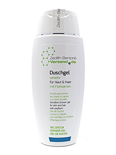 Duschgel sensitiv für Haut & Haar mit Flohsamen, 150ml Naturkosmetik,  ohne Parabene, Parfüm, Silikone, Mineralöle, tierische Bestandteile