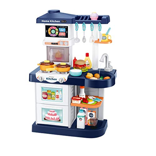 Awssya Little Kitchen Playset, Kids Play Kitchen with Realistic Lights & Sounds,Simulation of Spray, Children Role Play Toy Kitchen Set, Kitchen Cooking Accessories Set for Grils Boys Ages over 3