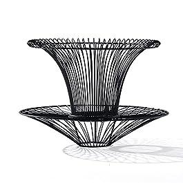 CJHOME Fauteuil de Loisirs en rotin Unique en rotin de rotin de 360 degrés sans Retour, avec Support arrière, pour…