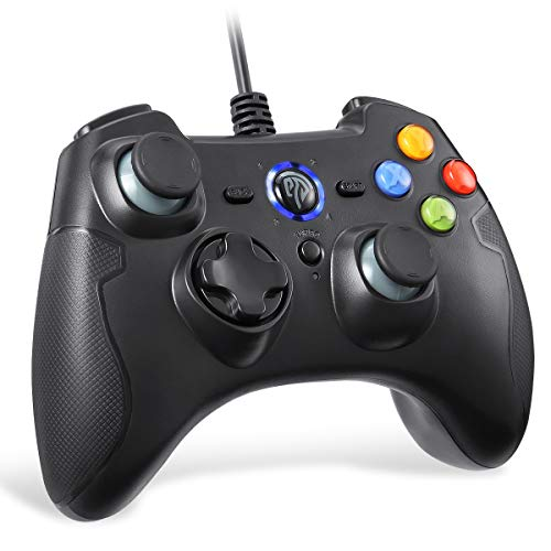 EasySMX Wired Gaming Controller,PC Game Controller Joystick with Dual-Vibration Turbo and Trigger Buttons for Windows/Android/ PS3/ TV Box