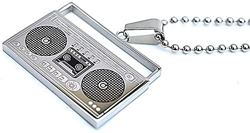 YANCONG Collar Collares para Hombre Grabadora de Acero de Titanio Colgante de...