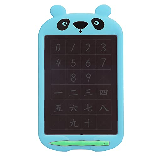 Dpofirs 10 Zoll LCD Elektronisches Zeichenbrett mit Bleistift, Schreibtablett mit Batterie für Kinder, Schüler, Cartoon-Handschrift-Zeichnungs-elektronisches Brett-Pad(Blau)