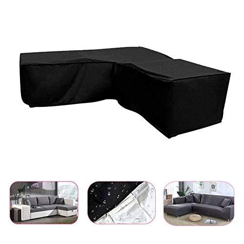 Q&Z Muebles De Jardin Cubierta Protectora Fundas Sofá En Forma De L Exterior Patio ProteccióN Cubierta Impermeable 210D Oxford Funda Anti-UV Cuadrado para SofáS Exterior