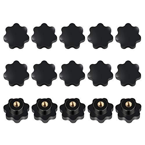 15 Stück Sterngriffmutter M8 aus Kunststoff Innengewinde Klemmmutter Schwarz für Werkzeugmaschine