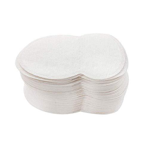 Confezione da 100 tamponi ascellari di qualità che assorbono il sudore, ideali per combattere l'iperidrosi, confortevoli e invisibili, per uomini e donne