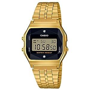 [カシオ] 腕時計 スタンダード 天然 ダイヤモンド 付 A159WGED-1JF メンズ ゴールド