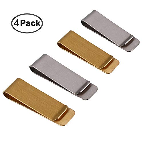 IHUIXINHE Metal Money Clip for Cash and Credit Cards, Brass Banknote Clip, Credit Card