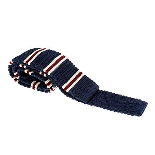 Hellery Corbatas De Punto De Los Hombres De Moda Corbatas Estrechas Delgadas Delgadas Tejidas Estrechas Corbatas Estrechas - # 8,