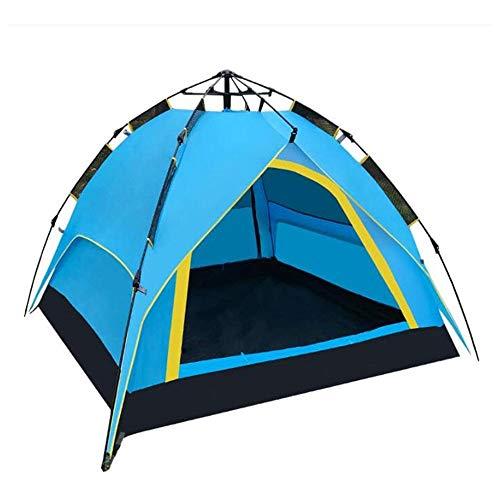 ROLLDC Tende da Campeggio for 3-4 Persona Famiglia, Dome Impermeabili Rifugi Sun Backpacking Tende Quick Set for l\'escursione di Campeggio attività all\'aperto