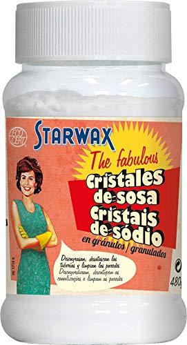 Starwax The Fabulous Cristales de Sosa 480 g - Producto de Limpieza Multiusos para Hogar , Limpiador Multifunción para Superficies, Tuberías, Pintura y Ropa Sucia