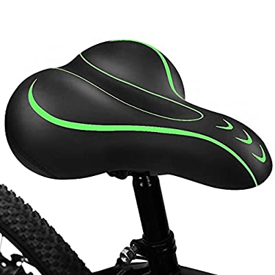 BLUEWIND Bike Seat, Most Comfortable Bicycle Seat Memory Foam Waterproof Bicycle Saddle - Dual Shock Absorbing with Mounting Wrench - Best Stock Bicycle Seat Replacement for Mountain Bikes, Road Bikes