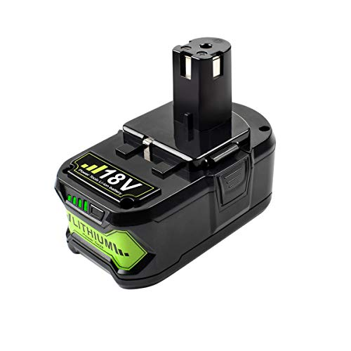 POWTREE 18V 6.0Ah Lithium-ion Replacement Battery Compatible with Ryobi ONE+ 18V Battery P108 P102 P103 P104 P105 P107 P109 P122 Cordless Power Tools