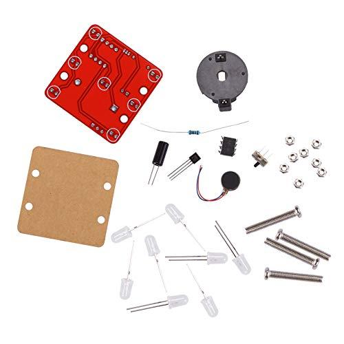 Fransande - Kit de vibrador de oscilación LED con kit de bricolaje electrónico de pequeño motor de vibración (azul)