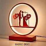 Led Night Lightled Lámpara de mesa Night Light Lámpara de noche Regalo de aniversario de boda Nuevo Wedding-To Tie The Knot_Button Natural Light