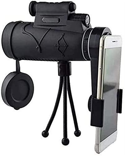LXHJZ Binoculars Telescope 12X50 High Power HD Dual Focus Scope, Impermeable Compacto con Lente Zoom Multicapa, Bajo para Caza Aves