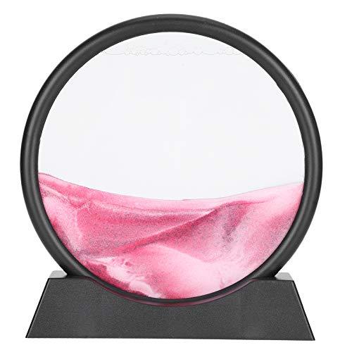 Cuadro de arena, pintura de arena, cuadros de arena Cuadro de arte de arena para escritorio de oficina de hotel en casa(Pink)