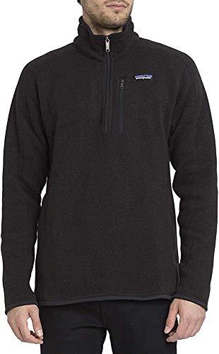 Patagonia Herren Jacke Better Sweater 1/4 Zip Fleece, Black, M