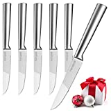 homgeek Steak Knives Set of 6, Special 304 Stainless Steel Table Knife, Premium