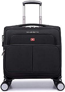 Trolley - einziehbare Gepäck - Carry Gepäck for Handgepäck Koffer Color : Black, Size : 37  20  33cm