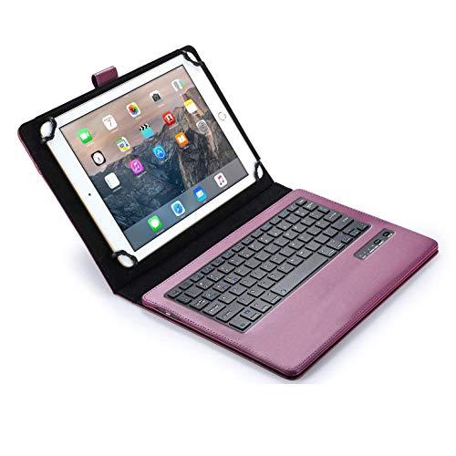 custodie tablet huawei 7 pollici Cooper Infinite Esecutiva Custodia Tastiera per 7-8 Pollice Tablet   Universale   2-in-1 Bluetooth Wireless Keyboard e Libro Foglio Case Cover (Viola)