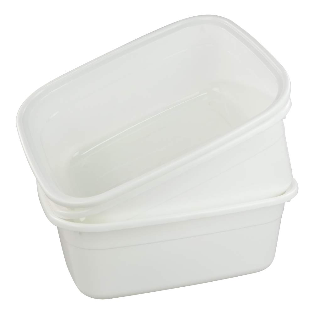 Wham Ice White High Grade Square Washing Up Bowl Basin Kitchen Mixing