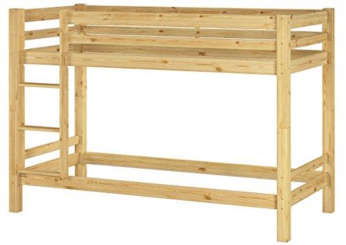 Erst-Holz® Kinderzimmer Etagenbett massiv Kiefer 90x200 Stockbett Hochbett Kinderbett 60.09-09oR