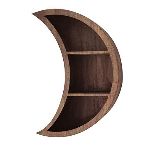 SUFUBAI Estantes flotantes en forma de luna, estante de almacenamiento de aceite esencial para colgar en el dormitorio