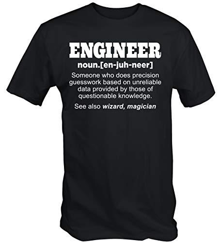 6TN Lustig Ingenieur T-Shirt - Schwarz, L