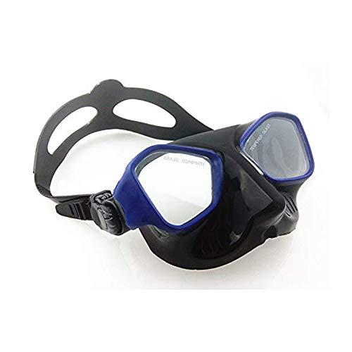 HYRL Professionelle Tauchbrille Unterwassertauchmaske Schwimmbrille Silikon Tauchspiegel,A
