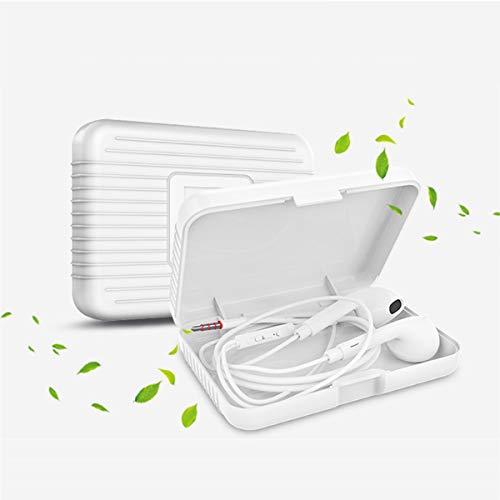 Relubby koptelefoon beschermende doos, wit vierkant plastic doos, stevige bescherming voor op de Go Hardcase opbergtas