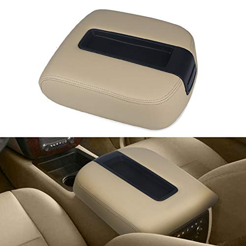 VANJING Compatible with Center Console Lid Armrest Kit Cover Chevy GMC Avalanche Silverado Tahoe Suburban Yukon Yukon XL Sierra 2007-2013 Replaces 15217111 15941534