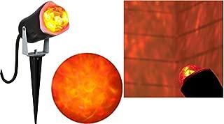Gemmy Lightshow Fire & Ice Kaleidoscope Projection Red & Yellow Spotlight