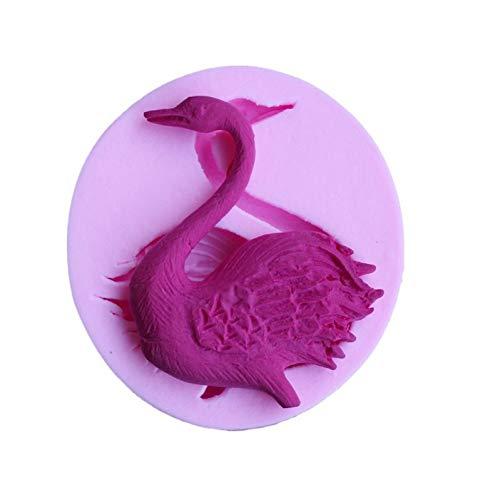 RelaxLife Backen Formen Elegante Schwan Form Silikon Kuchenform, 3D Küche Backform Für Cupcake Jelly Chocolate Clay Fondant Kuchen Dekorationswerkzeuge