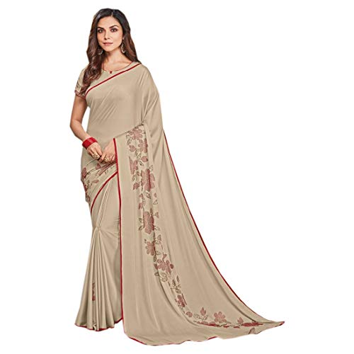Pinkkart Designer Indian Bollywood Georgette met Swarovski Werk Saree Bruiloft Casual Wear Party Feestelijke Vrouwen Sari Blouse 9659