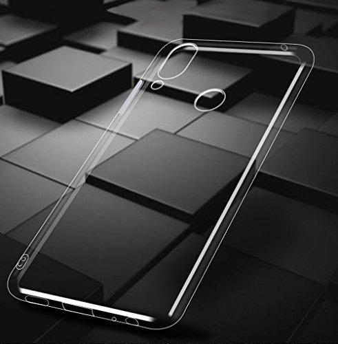 Beetop Kompatibel Mit Huawei Honor Play Hülle, Beetop Schutzhülle Handyhülle Transparent Weiche Silikon TPU Rückschale Case Cover für Huawei Honor Play - Transparent - 3