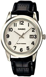 Casio Standart Men's White Dial Leather Band Watch - MTP-VS01L-7B1DF