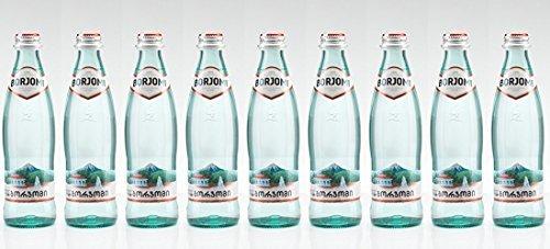 Mineral wasser BORJOMI Glitzernd Wasser im glas flasche, 0,5 l [Packung von 9]