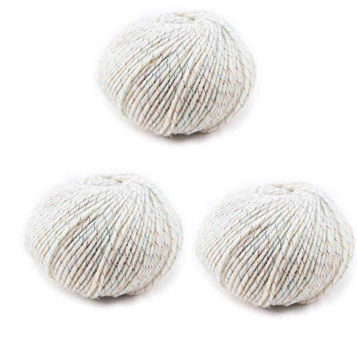 KOMOSO Manta suave de lana de punto grueso medio popular caliente hecho a mano ganchillo cómodo transpirable tejido acrílico simple 3 piezas