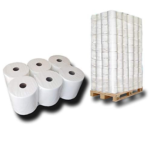 1 Palette Handtuchrollen 2 lagig, 100% Zellstoff, ca. 20cm Breite - für Handtuchrollen-Spender mit Außenabwicklung, Premium Papierhandtücher, Handtuchpapier hochweiß