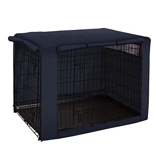 Funda para Jaula, Resistente al Viento, Cubierta para caseta de Mascotas, Mezcla de poliéster Proporciona protección Interior y Exterior para Caja de Alambre CYFC954