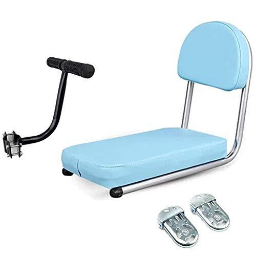 Fahrrad Rücksitzkissen mit Rückenlehne integriert hinten weichen Sitz bemannt Mountainbike Kindersitz Pedal Armlehne,Blau